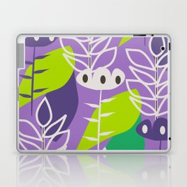 Floral style in purple Laptop & iPad Skin