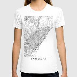 Barcelona White Map T-shirt
