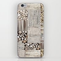 wood iPhone & iPod Skins featuring Wood by LebensART