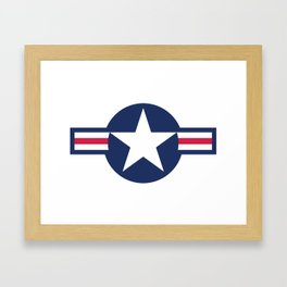 US Airforce style roundel star - High Quality image Framed Art Print