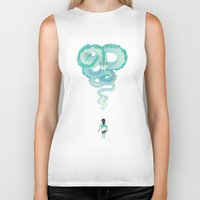 spirited away Biker Tanks featuring Spirited Away by Amy S.