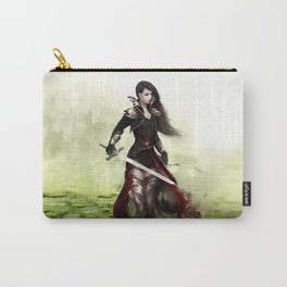 Lady knight - Warrior girl with sword concept art Carry-All Pouch