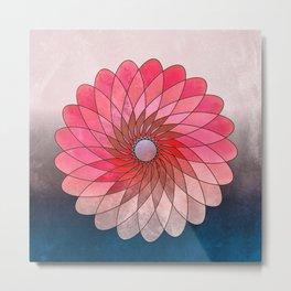 Pink shining gyro Metal Print