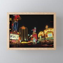Las Vegas Lights Framed Mini Art Print