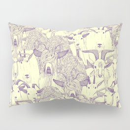 just goats purple cream Pillow Sham