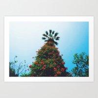 bushy palm Art Print