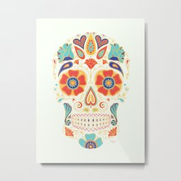 Day of the Dead Sugar Skull Candy Metal Print