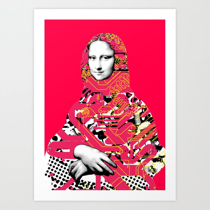 Mona Lisa Platina 5 Art Print