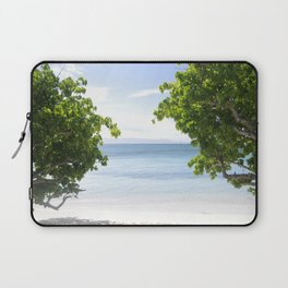 Alone on the beach Laptop Sleeve