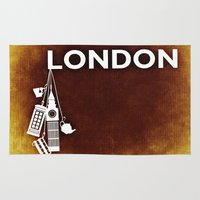 england Area & Throw Rugs featuring London, England  by Limitless Design