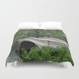 Bow Bridge Central Park New York Duvet Cover