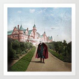 Sir Samuel Samoyed at the Resort Art Print