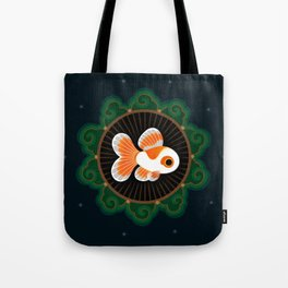 Butterfly goldfish - white Tote Bag