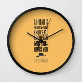 Lab No. 4 - Elbert Hubbard American Writer Motivational Typography Quotes Poster Wall Clock