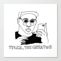 tyler the creator Canvas Prints featuring Tyler, The Creator by ☿ cactei ☿