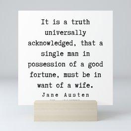 8    | Jane Austen Quotes | 190722 Mini Art Print