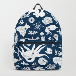Cephalopods: Background Blue Backpack