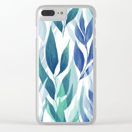 Leafage #02 Clear iPhone Case