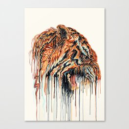 Dripping Tiger Canvas Print
