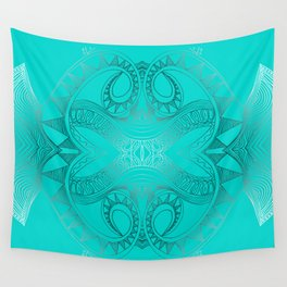 Turquoise Alea Wall Tapestry