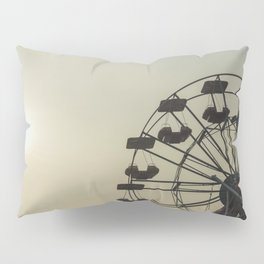 Ferris wheel in a Luna Park shortly before sunset in autumn Pillow Sham