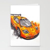 f1 Stationery Cards featuring McLaren F1  by Claeys Jelle Automotive Artwork