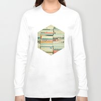 literature Long Sleeve T-shirts featuring Bookworm by Cassia Beck