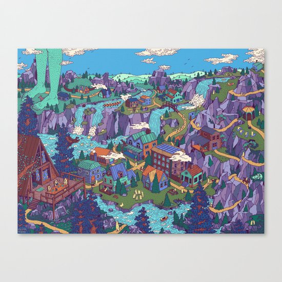 Try Not to Step on Anything This Time Canvas Print