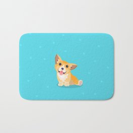 Sitting Cute Corg Bath Mat