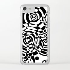 Raindrops 2 Black and White Geometric Painting Clear iPhone Case