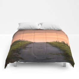 Sunset Path Comforters