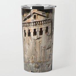 Lycian Tombs Cut From Rock Circa 400 BC Travel Mug