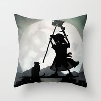 gandalf Throw Pillows featuring Gandalf Kid by Andy Fairhurst Art