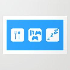 Eat. Game. Sleep Art Print