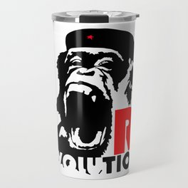 Revolution - Evolution - chimp Travel Mug