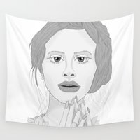 lana Wall Tapestries featuring Lana by Gusti