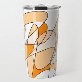 Orange Swirl Travel Mug