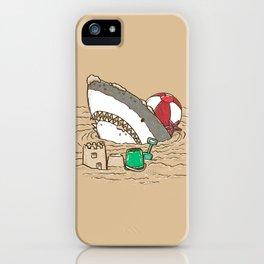 Sandy Beach Shark iPhone Case