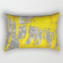 Fusions of Yellow and Grey Rectangular Pillow