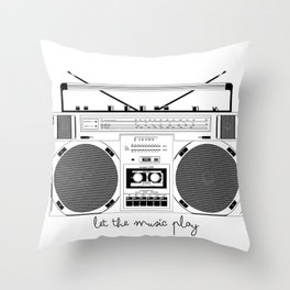 Bombox Throw Pillow