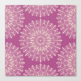 Vintage Mandala-Purply Canvas Print