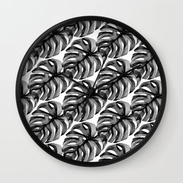 """""""Favorite Collection"""" - Abstract Lines Monstera Pattern Print Wall Clock"""
