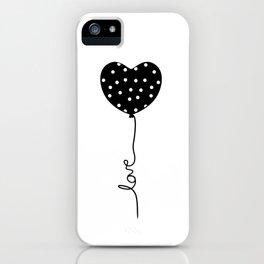Polka Dot Heart Balloon Love string iPhone Case