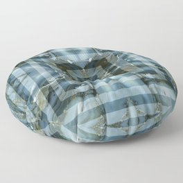 Geometric marbled stylish art squares design for home ornament. Floor Pillow