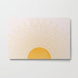 Sun Rise Art, Horizontal boho Sun Metal Print