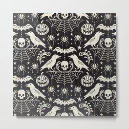 All Hallows' Eve - Black Ivory Halloween Metal Print