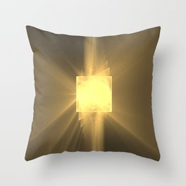 Three Twists Toward The Light Throw Pillow