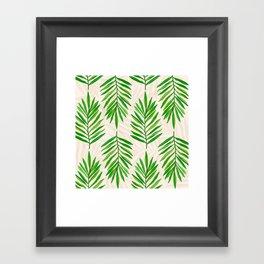 Bali Palms 2 / Tropical Pattern Framed Art Print