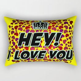 "I Love You ""Hearts"" Rectangular Pillow"