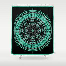 Bear Spirit (Aqua) Shower Curtain